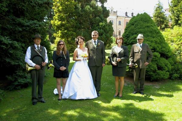 Myslivecká svatba na Sychrově